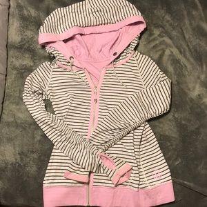 Reversible striped  LuLu Lemon zip-up jacket